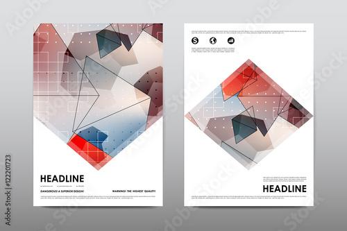 Brochure layout template flyer design vector magazine for Buy brochure templates