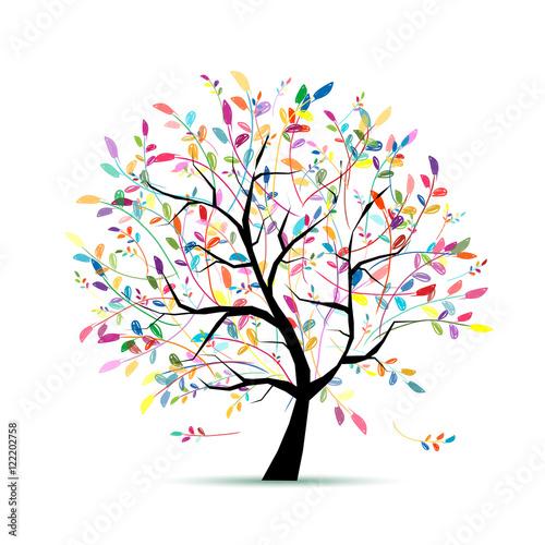 Kolorowe drzewo sztuki dla swojego projektu