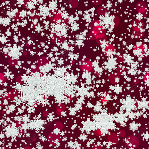 Papiers peints Visage de femme Snowflakes on red background generated