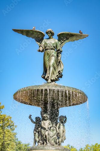 Photo  Angel of the waters is the statue on top of the Bethesda Fountain, in Central Pa