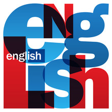 """""""ENGLISH"""" Letter Collage"""