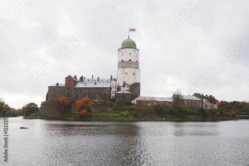 Vyborg Castle. Olaf Tower. Poster
