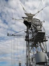 Communications Mast On The HMS Belfast