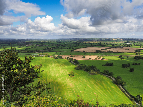 Fotografia, Obraz View of the Cheshire Countryside from Beeston Castle