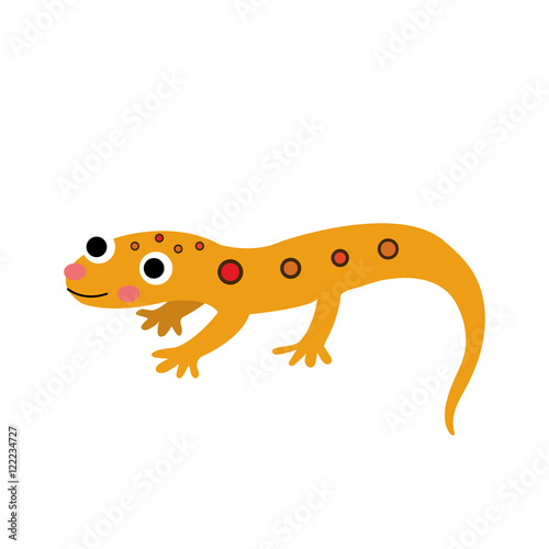 Fotografie, Obraz  Eastern Red-spotted Newt animal cartoon character