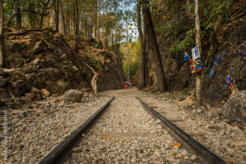 Death Railway, Old railway at Hellfire pass, Kanchanaburi Canvas-taulu