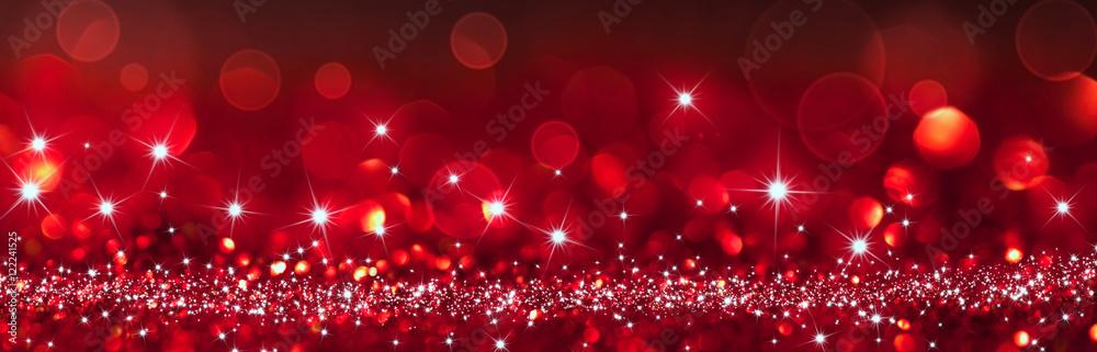 Fototapeta twinkled red background - christmas