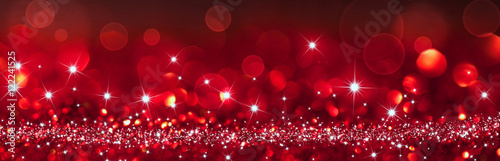 Photo twinkled red background - christmas