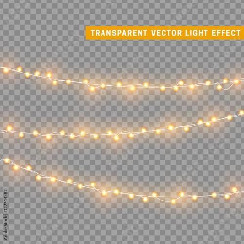 Slika na platnu Christmas lights isolated realistic design elements