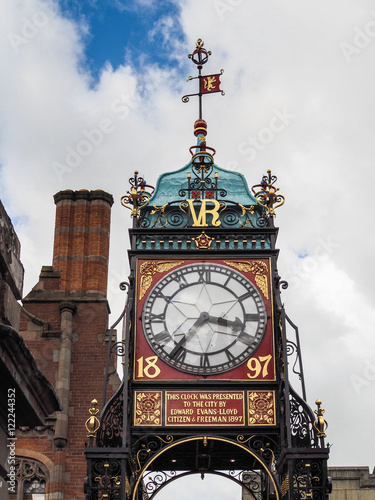 Fotografie, Obraz  Victorian City Clock in Chester