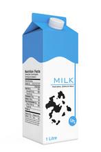 Milk Carton Box. 3d Rendering