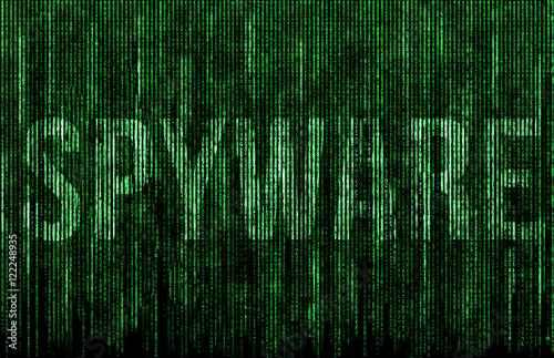 Fotografía  Spyware digital matrix illustration