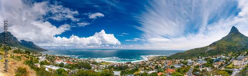 Poster Afrique du Sud Cape Town panoramic landscape
