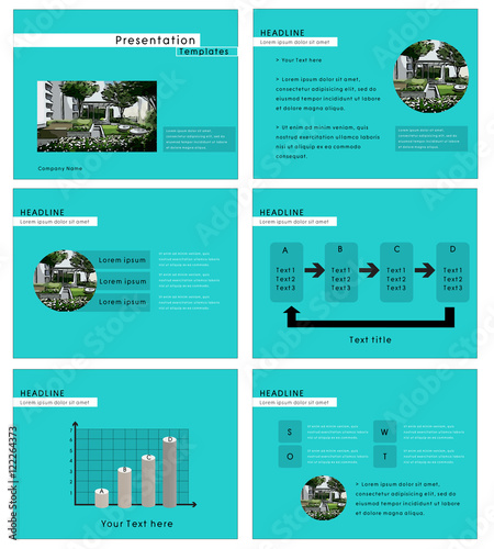 presentation template with real estate theme in clipping mask buy