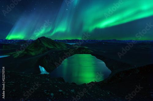 In de dag Noorderlicht Iceland Landmannalaugar
