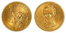 Abraham Lincoln Golden One Dollar Coin