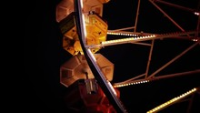A Close Up Of Pods On A Ferris Wheel.