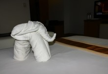 Elephant Made From Towels