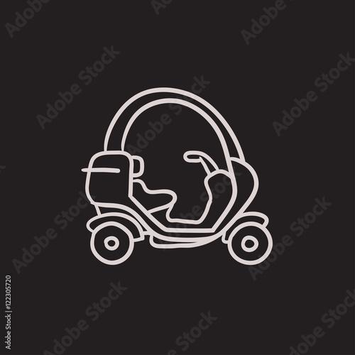 Fotografija  Rickshaw sketch icon.