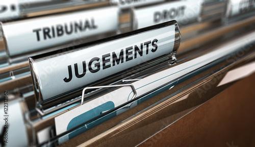 Valokuva  Dossier d'avocat jugement au tribunal