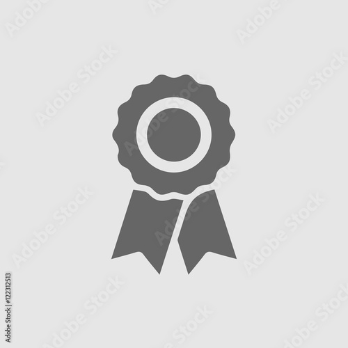 Badge with ribbons vector. Certificate vector icon. Certification ...