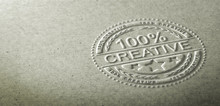 3D Illustration Of An Embossed...