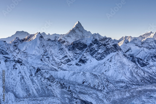 Photo  Ama Dablam mountain landscape