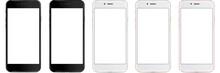 Set Of Vector Smartphones With...