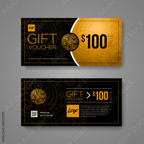 gift voucher design template buy this stock vector and explore