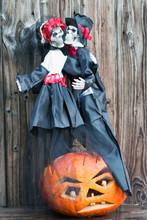 Halloween Kürbis Mit Skelett ...