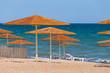 sun umbrella on a sea beach