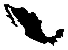 Mexico Map Silhouette