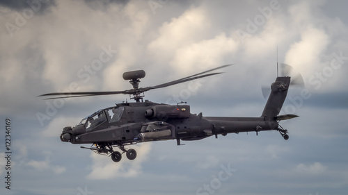 Poster Helicopter Apache helicopter in flight