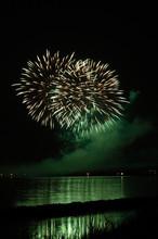 Fuochi D'artificio Sulla Laguna