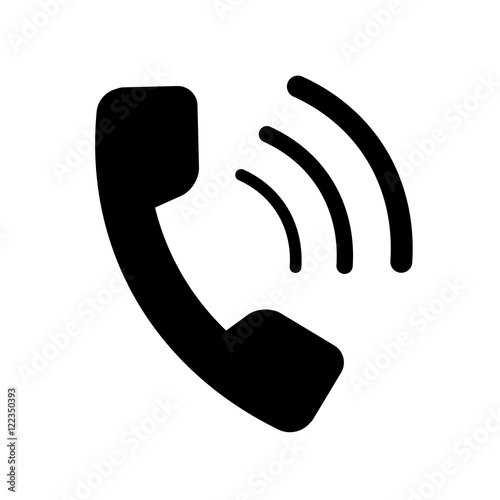 ic u00d4ne t u00c9l u00c9phone monochrome