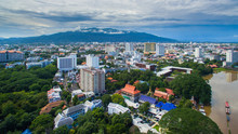 Aerial View Chiang Mai City, H...