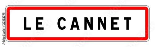 Obraz na plátně LE CANNET panneau entrée agglomération