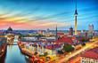 canvas print picture - Berlin Skyline