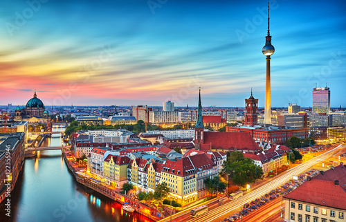 Canvas Print Berlin Skyline