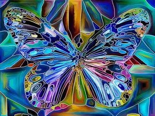 Panel Szklany Do pokoju dziewczyny Butterfly Colors