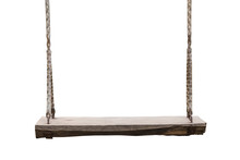 Wooden Swing In The Park Isola...