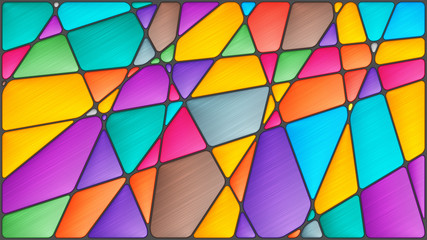 Abstract mosaic image with geometric shapes