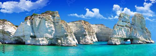 Poster Cote travel in greek islands - Milos, Cyclades, Kleftiko bay