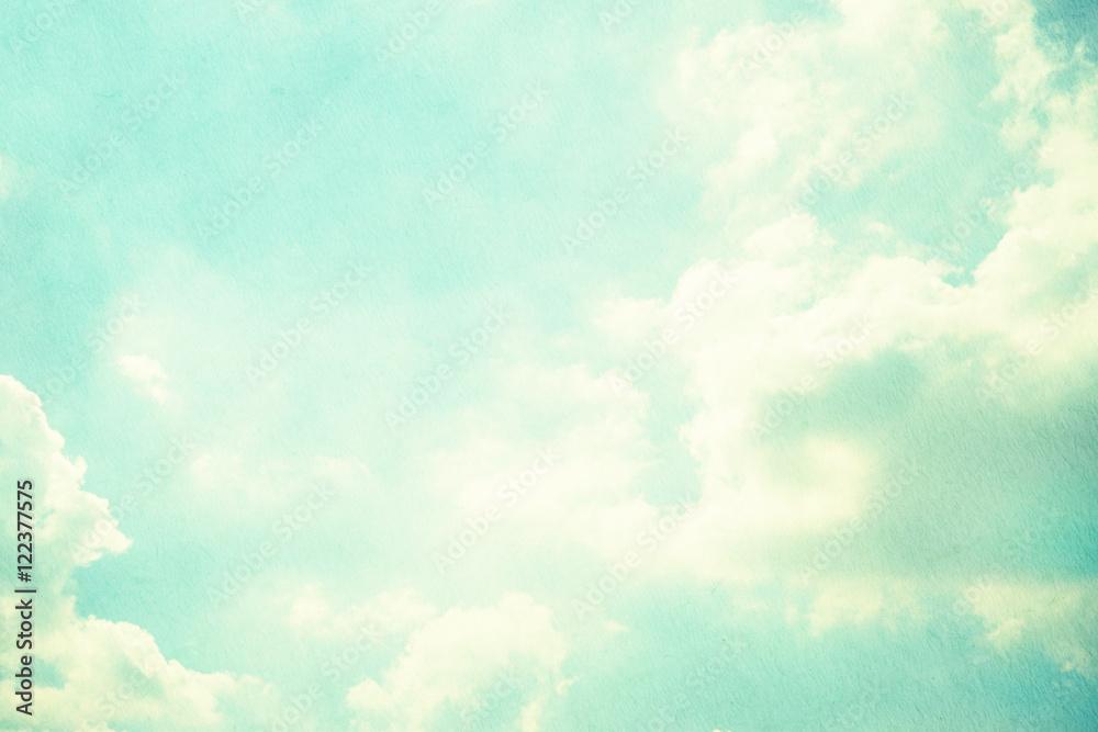 Fototapety, obrazy: grunge retro sky background