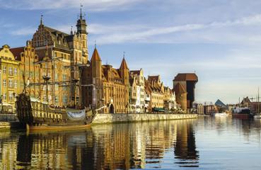 Panorama starego miasta w Gdańsku