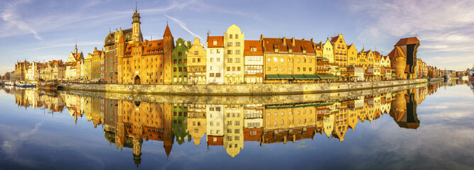 Panorama starego miasta w Gdańsku,panorama clustrzana