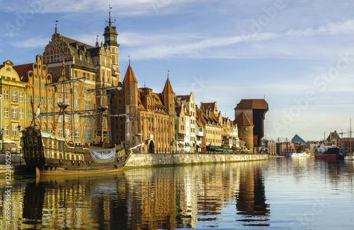Fototapeta Panorama starego miasta w Gdańsku obraz