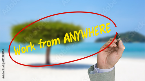 Fotografie, Obraz  Work from anywhere passive income concept