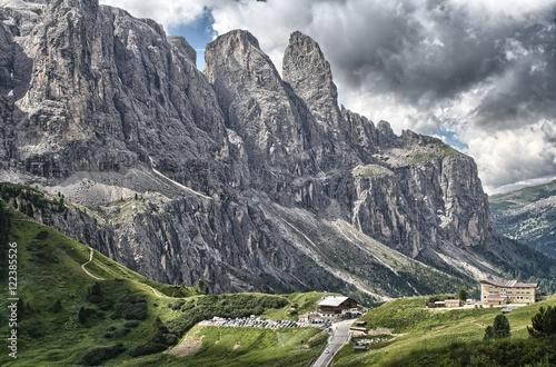 Fotografie, Obraz  Il Passo Gardena e il Gruppo del Sella