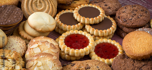 Canvas Prints Cookies Panoroma sur des biscuits secs